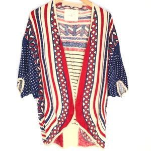 Anthro Angel of The North Multicolor Cardigan XS